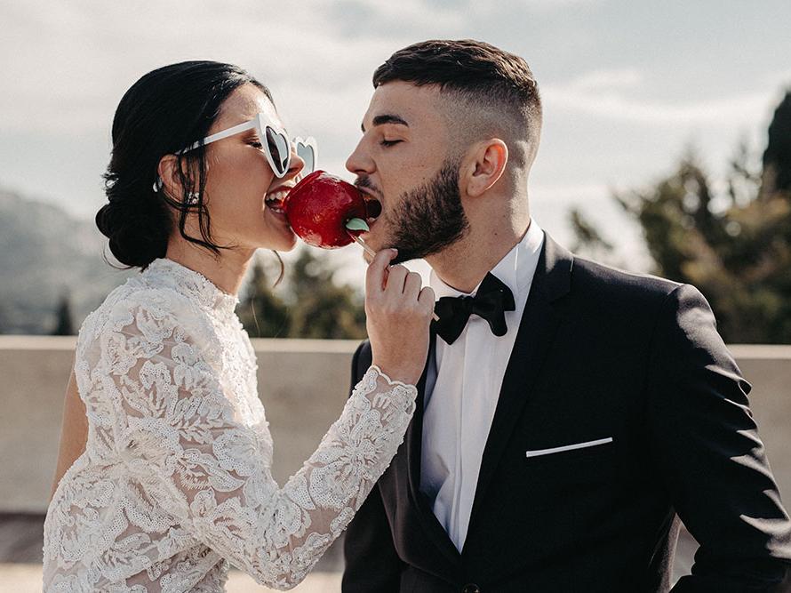Shooting d'inspiration Saint Valentin rose et rouge