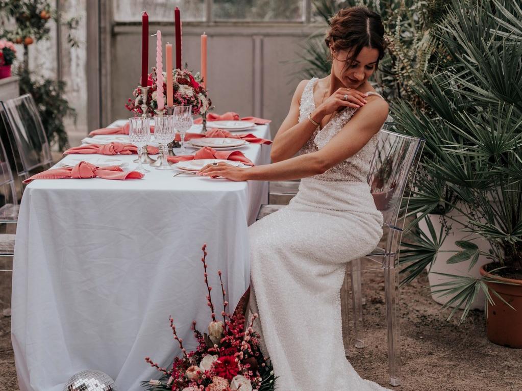Décoration de mariage rose